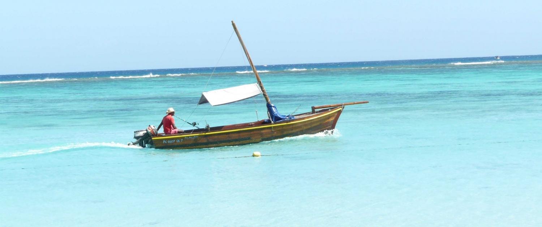 Boot auf Mauritius